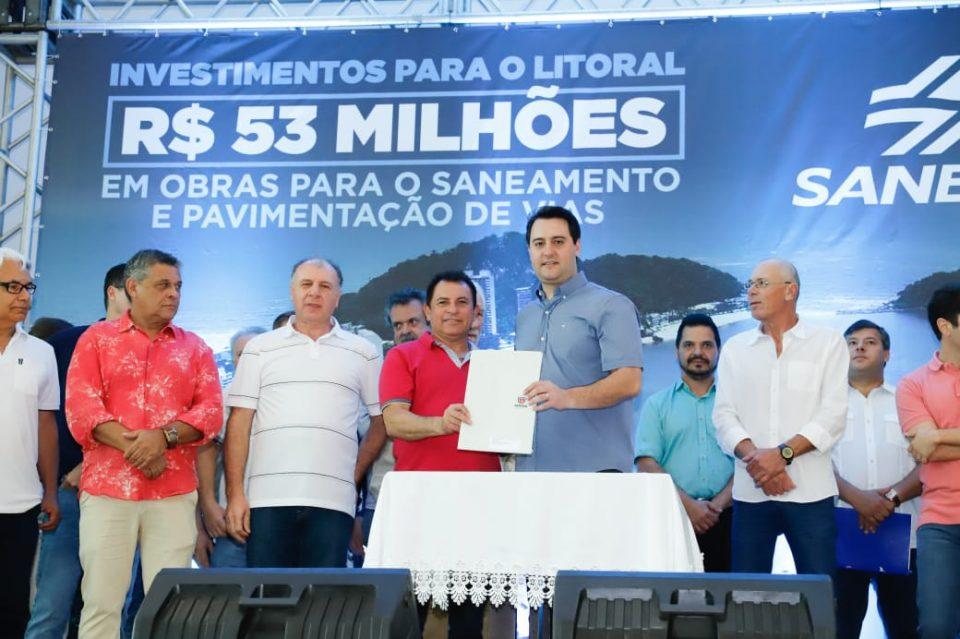 litoral do paraná recebe aporte de mais de 50 milhões de reais
