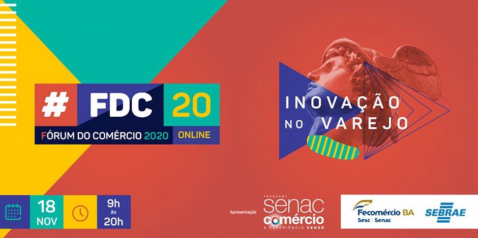 acontece dia 18 o fórum do comércio 2020 em formato online
